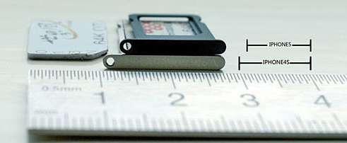 slot della nano-sim dell'iphone 5
