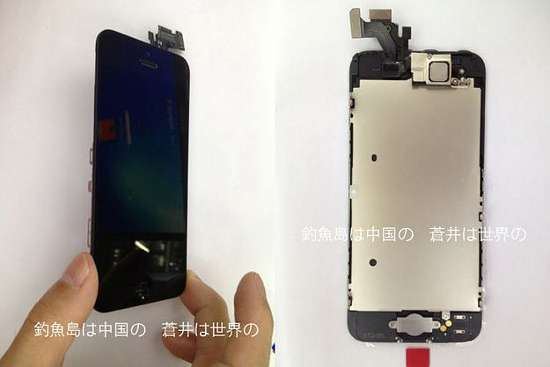 parte frontale dell'iphone 5
