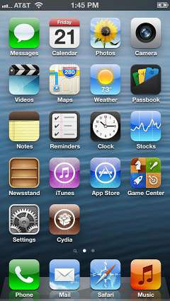 schermo iphone 5 jailbreak