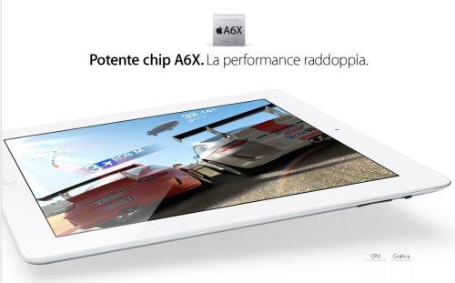 iPad 4: prestazioni record grazie alla nuova CPU A6X