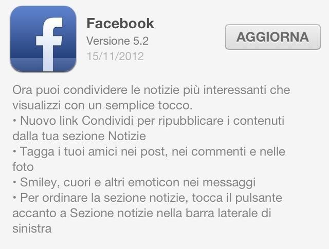facebook 5.2 update