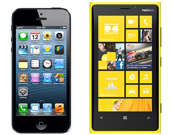 iPhone 5 Lumia 920
