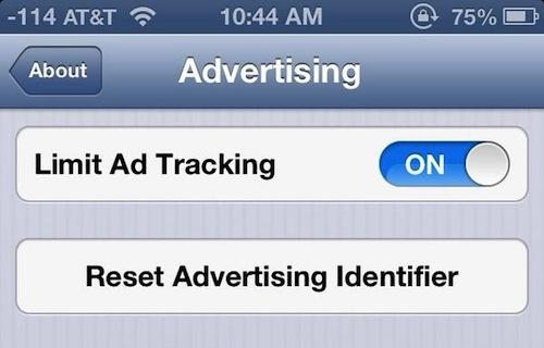 reset advertising