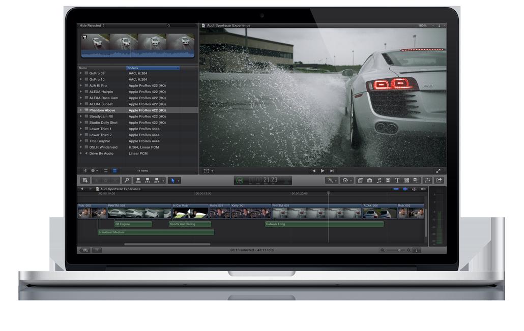 Apple: arrivano gli aggiornamenti per Final Cut, Motion 5 e Compressor 4