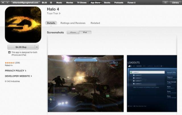 Halo 4 app store