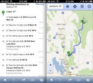 iPhone 5 Google Maps
