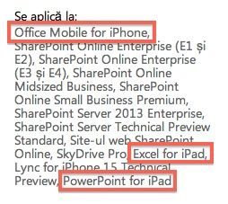 Office per iPhone e iPad in arrivo?