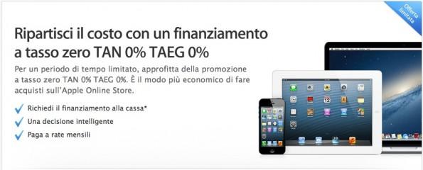 Apple finanziamento tasso zero