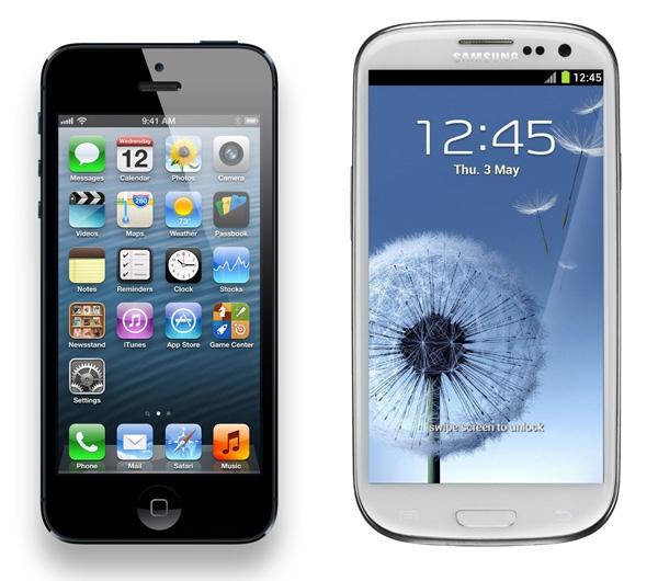 iPhone 5 Galaxy S3