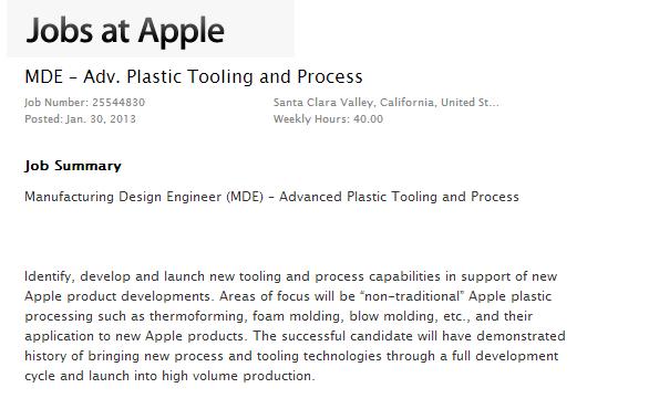 ingegneri lavoro Apple