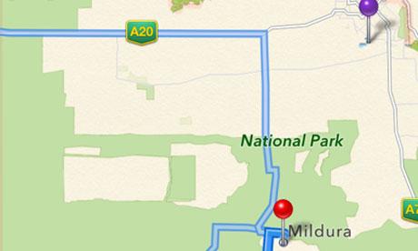 Apple maps Mildura