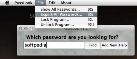 database password Mac Windows
