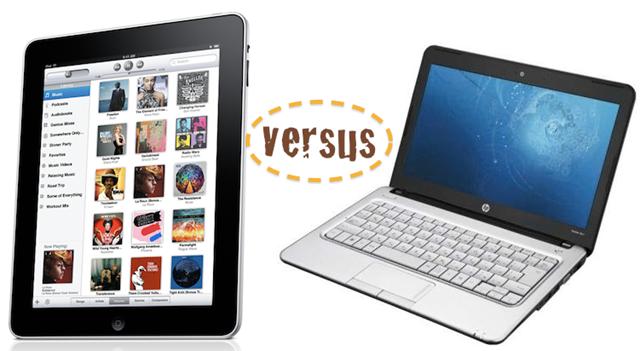 iPad vs pc notebook
