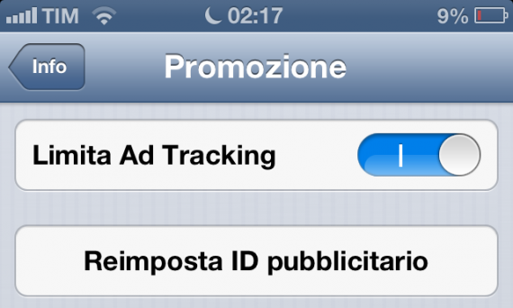 tracking cookie ios