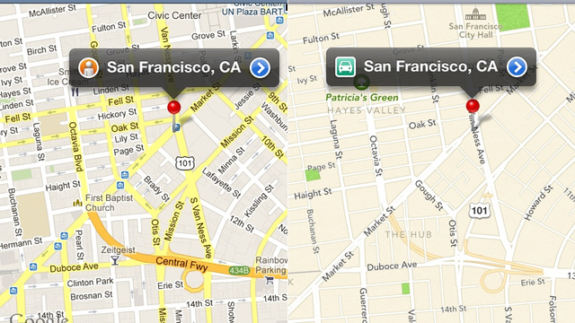 Apple vs Google Maps