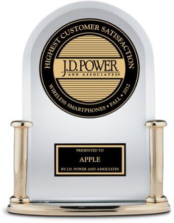 J.D.-Power-awards premio Apple