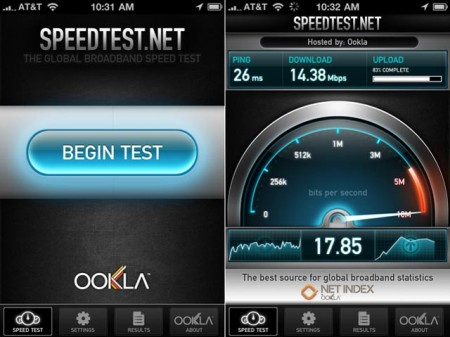 speedtest iPhone 5