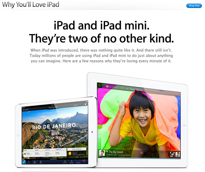 "Apple: nuova pagina spiega ""Why You'll Love iPad"""