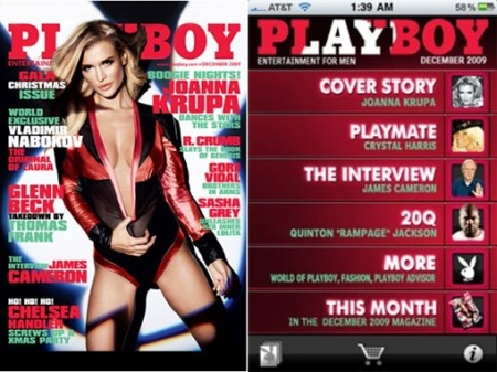 Playboy-app iPhone