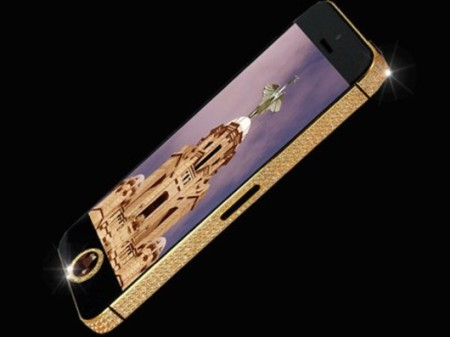 iPhone-5-ORO diamanti neri