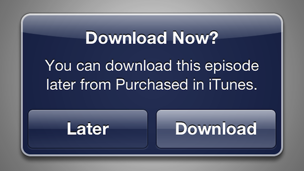 itunes later