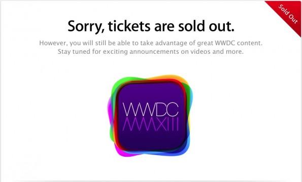 WWDC 2013, biglietti esauriti in un minuto