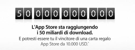 App Store: 10 mila dollari per il download numero 50 miliardi