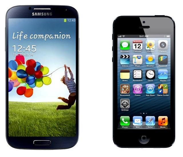 Galaxy S4 iPhone 5