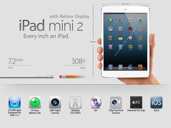 iPad mini 2: Retina display in arrivo nel Q3