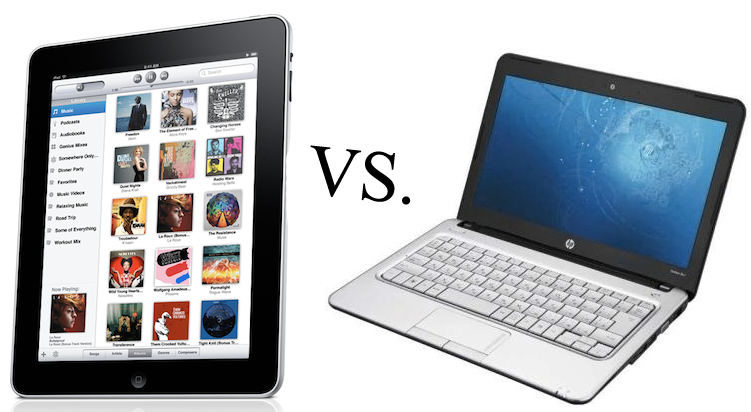iPad vs notebook HP