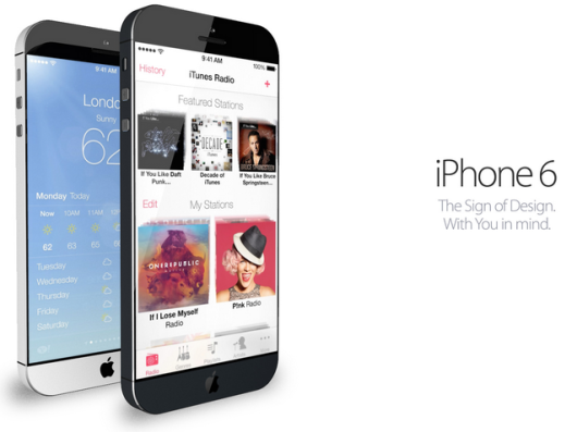Nuovo concept dell'iPhone 6 con iOS 7