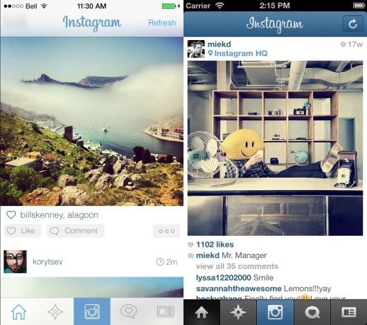 instagram nuova app