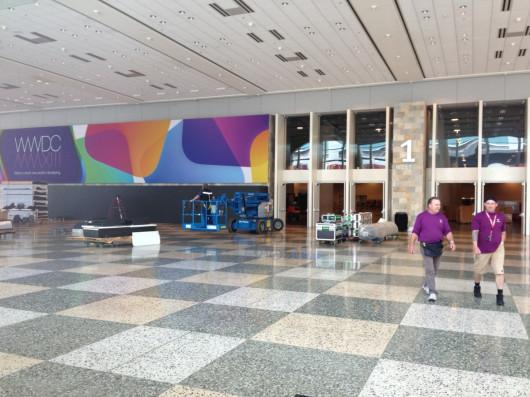Iniziati i preparativi al Moscone Center per il WWDC 2013