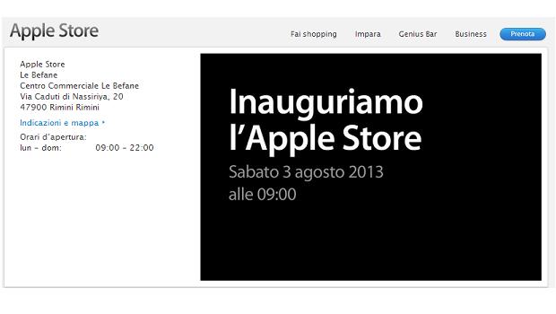 Rimini: l'Apple Store sarà inaugurato il 3 agosto