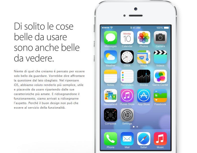 iOS 7 italiano