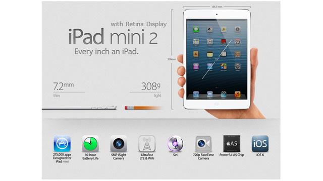 iPad mini 2: scheda tecnica, cosa cambierà?