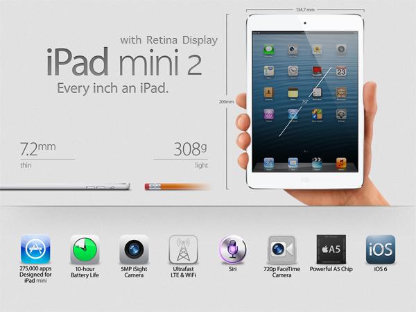 iPad mini 2: data d'uscita e considerazioni