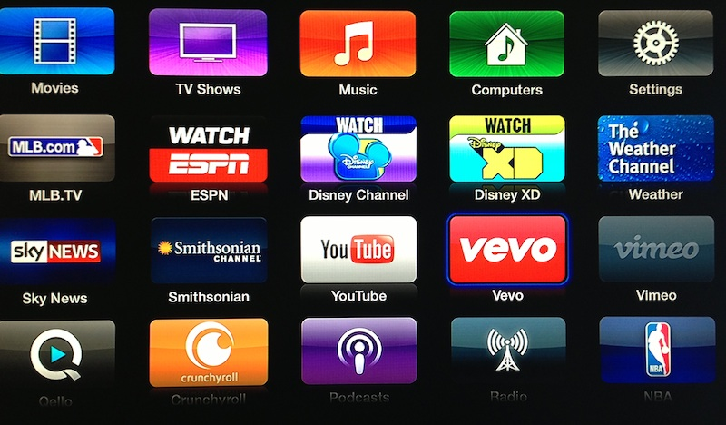 apple tv vevo