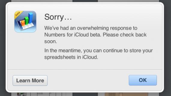 iWork: Apple cancella la Open Beta, troppi utenti da gestire