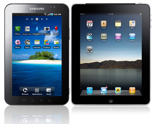 ipad galaxy tab