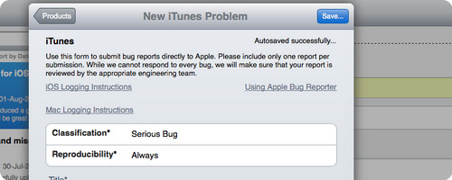 Apple BugReporter