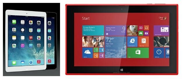 iPad Air vs Lumia 2520