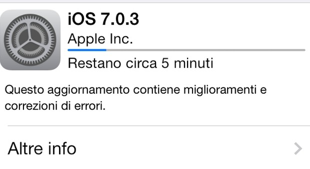 Disponibile il download di iOS 7.0.3