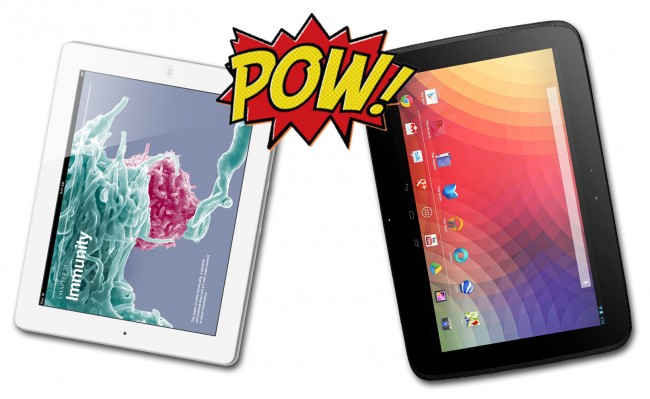 ipad vs nexus 10