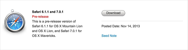 Safari: rilasciate 2 nuove beta con PDF allegato