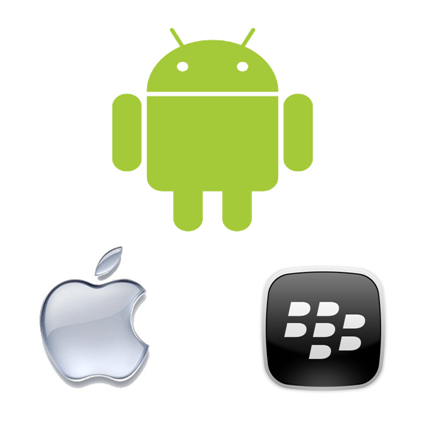 apple android blackberry