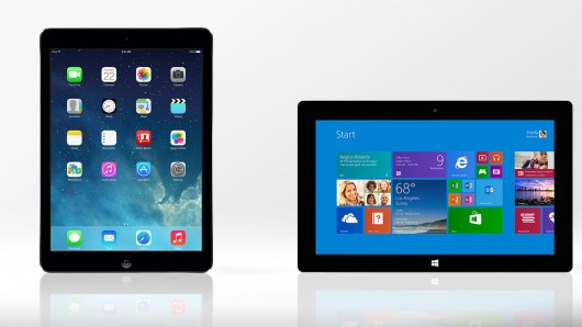 ipad air vs surface 2