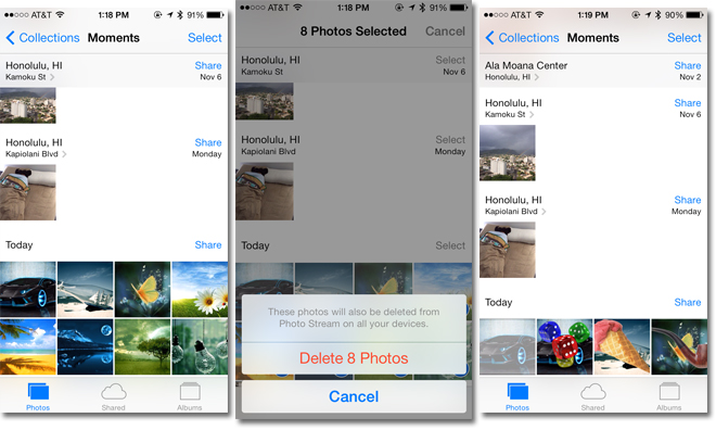 iOS 7: un bug permette di recuperare le foto eliminate
