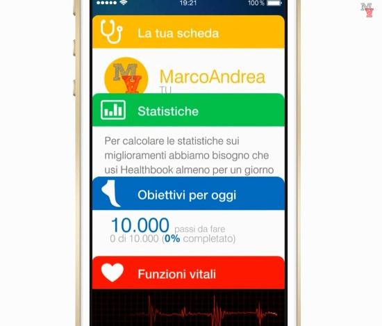 Healthbook: concept italiano per futuro iOS 8