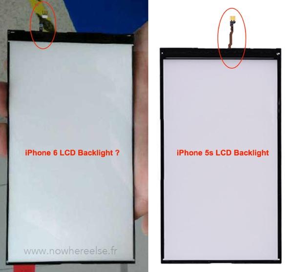 iPhone 6: foto del presunto pannello di retroilluminazione